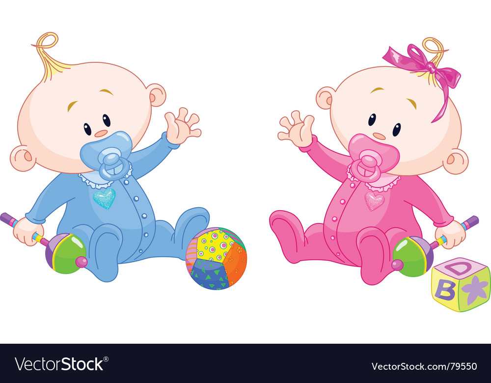 Sweet twins vector | Price: 3 Credit (USD $3)