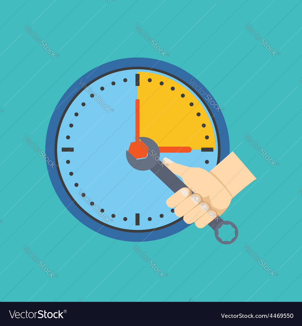 Time management concept flat design isolated on vector | Price: 1 Credit (USD $1)