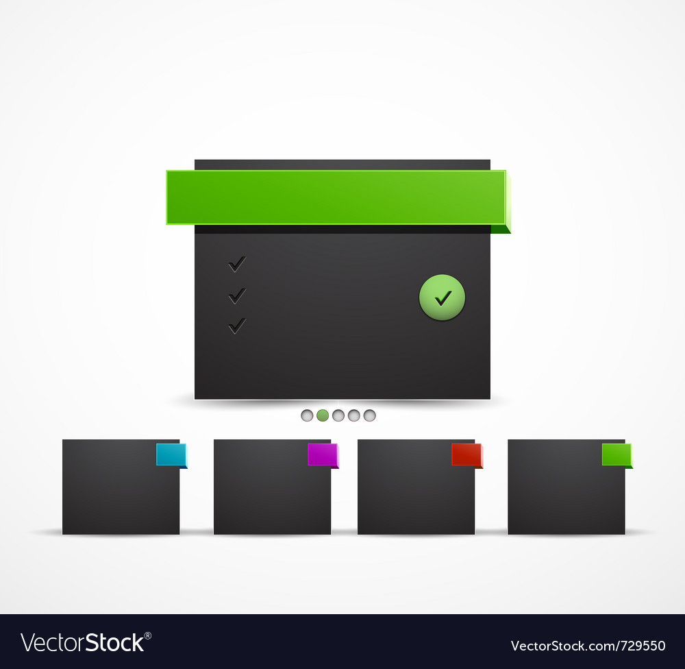 Web box design template vector | Price: 1 Credit (USD $1)