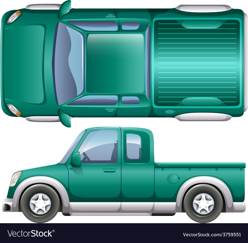 A pick up car vector | Price: 1 Credit (USD $1)