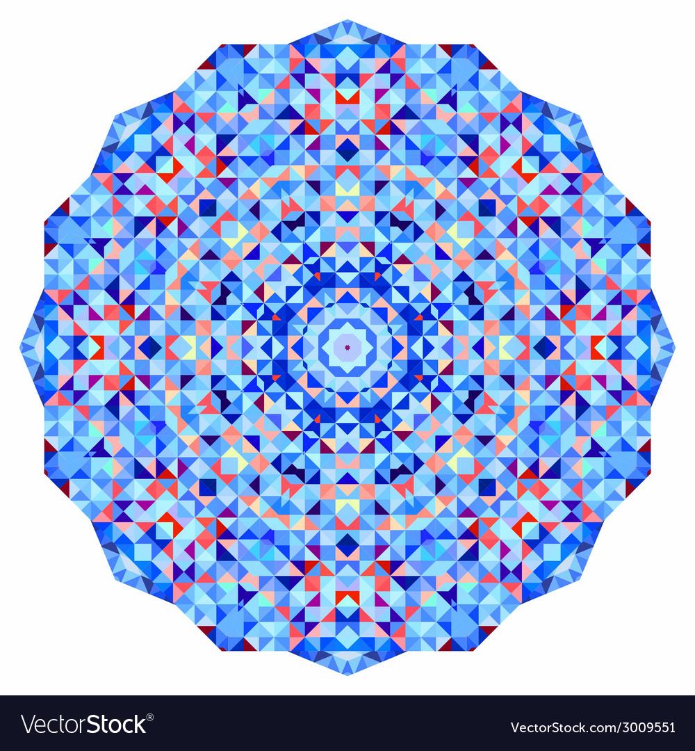 Abstract colorful circle backdrop mosaic round vector | Price: 1 Credit (USD $1)