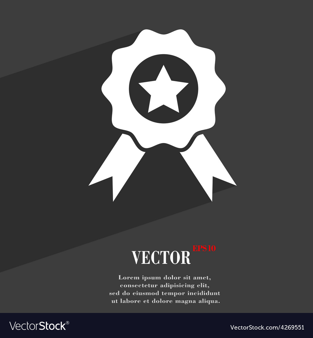 Award medal of honor icon symbol flat modern web vector | Price: 1 Credit (USD $1)