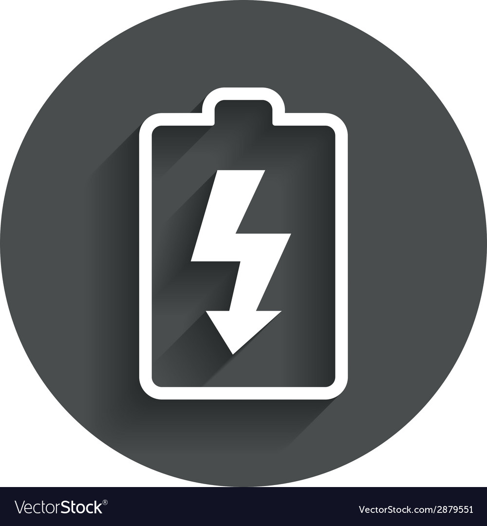 Battery charging sign icon lightning symbol vector   Price: 1 Credit (USD $1)