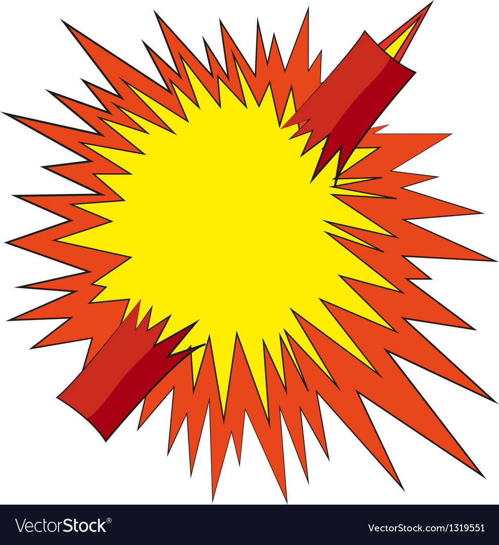 Boom comic book explosion vector | Price: 1 Credit (USD $1)