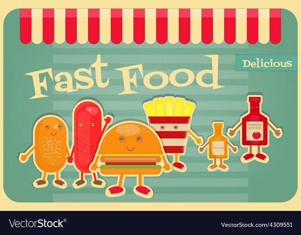 Fast food cartoon vector | Price: 1 Credit (USD $1)
