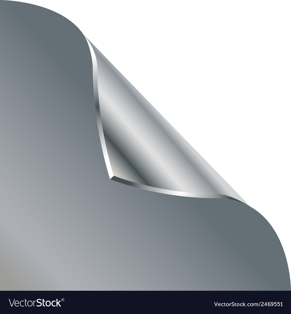 Folded edge of the sheet  silver vector | Price: 1 Credit (USD $1)