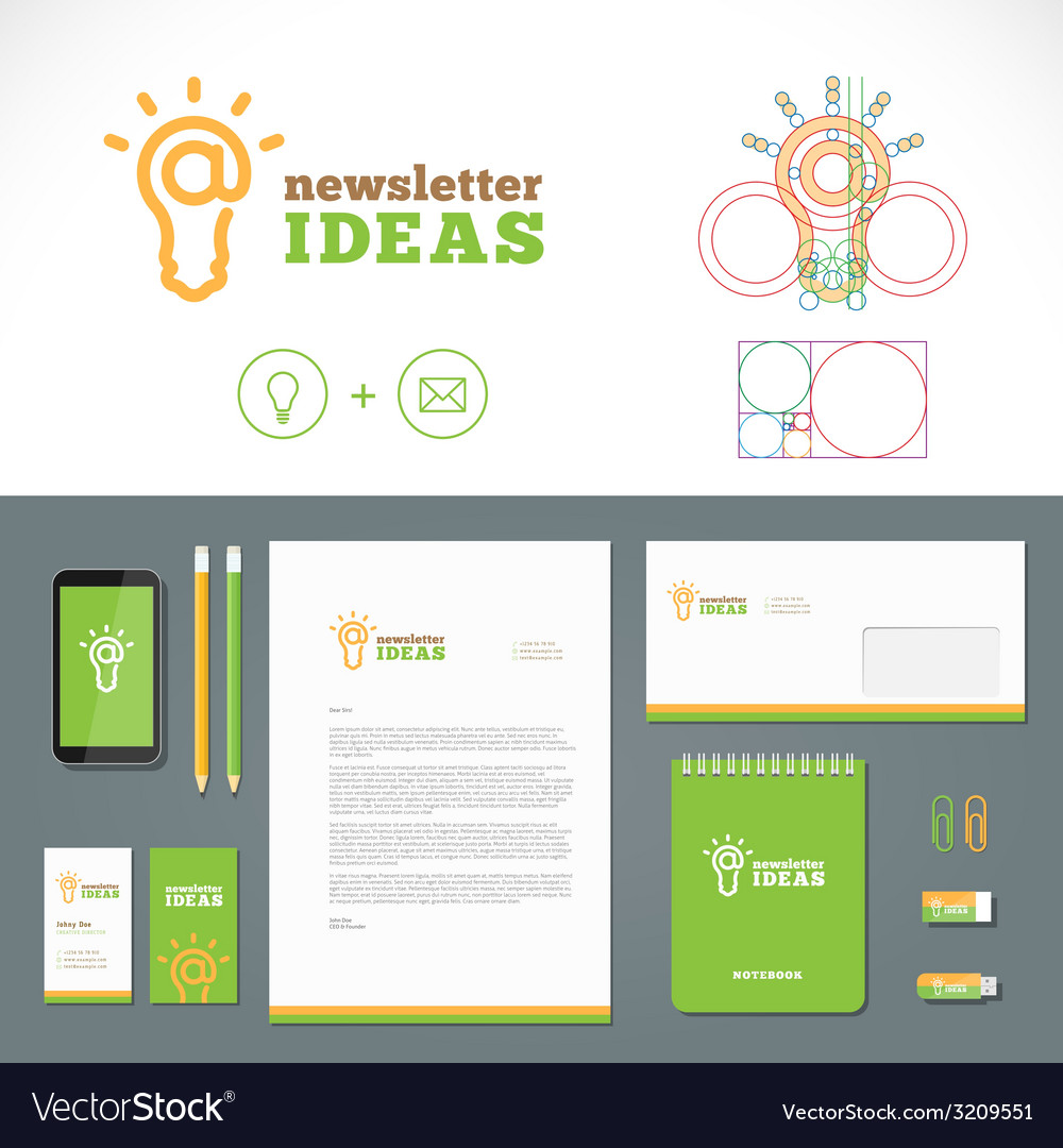 Newsletter ideas logo and identity template vector | Price: 1 Credit (USD $1)
