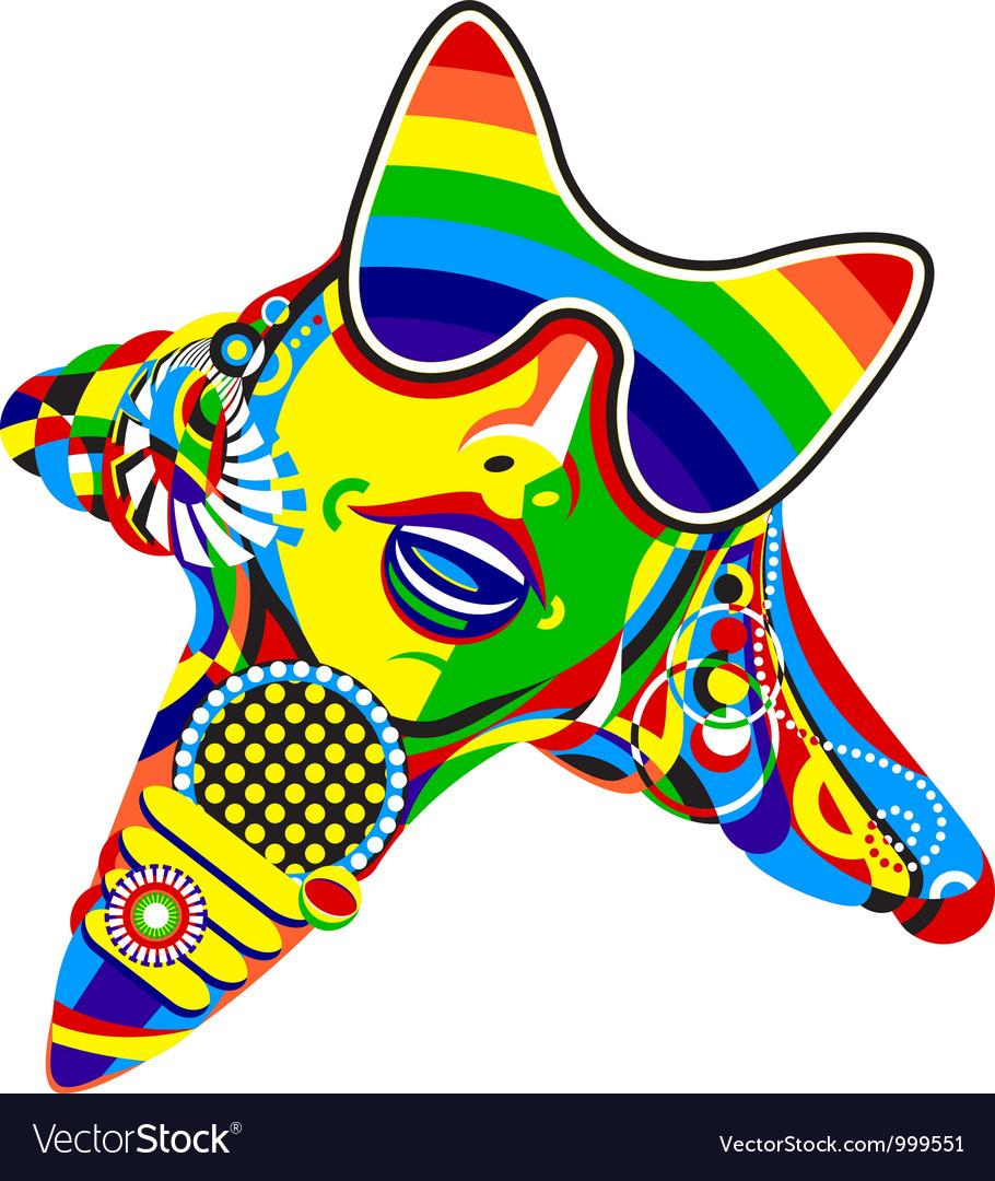 Pop star vector | Price: 1 Credit (USD $1)
