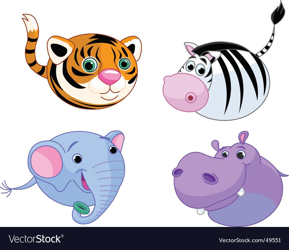 Safari animal set vector | Price: 3 Credit (USD $3)