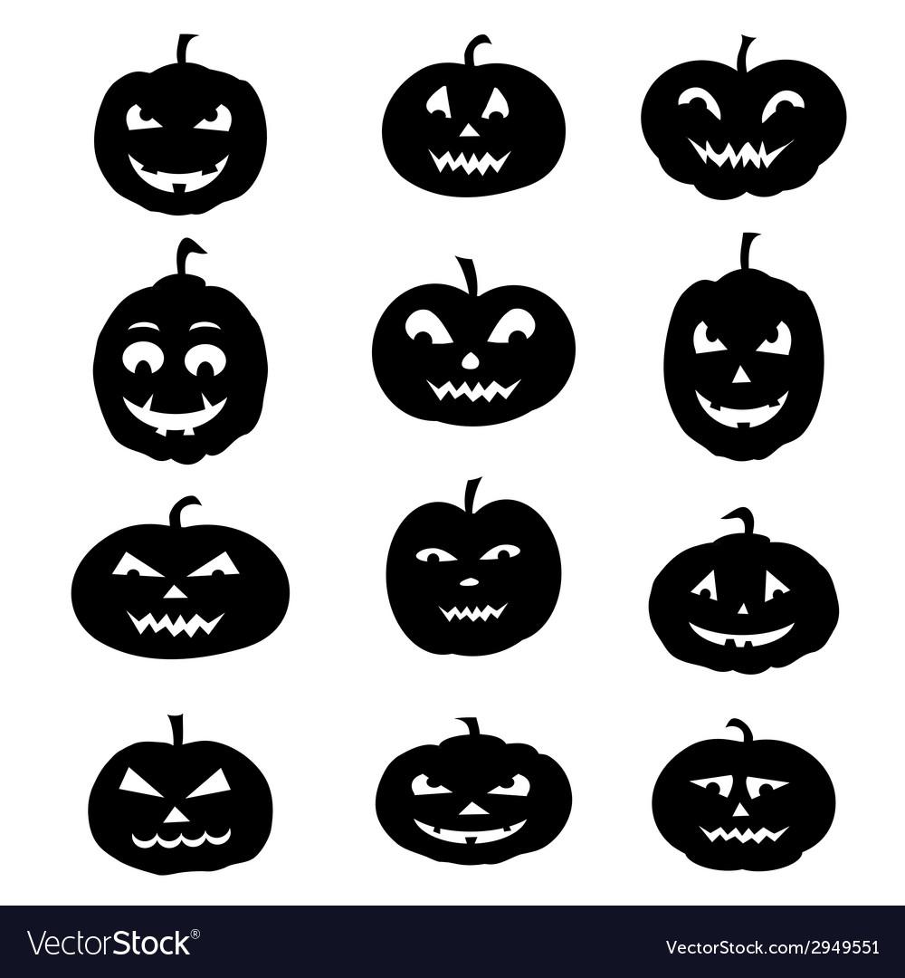 Set of halloween pumpkins vector   Price: 1 Credit (USD $1)