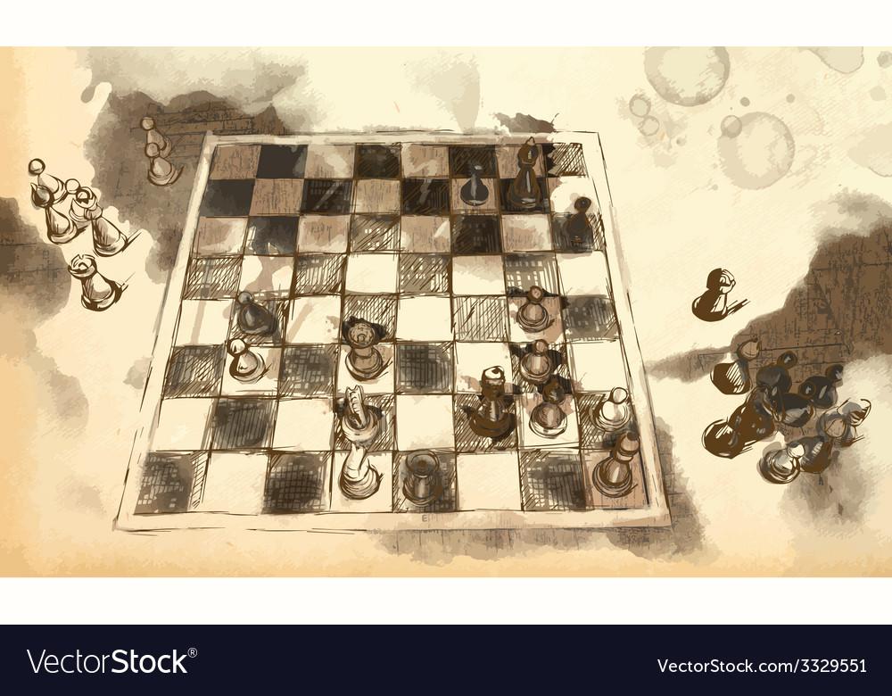The worlds great chess games karpov - kasparov vector | Price: 3 Credit (USD $3)