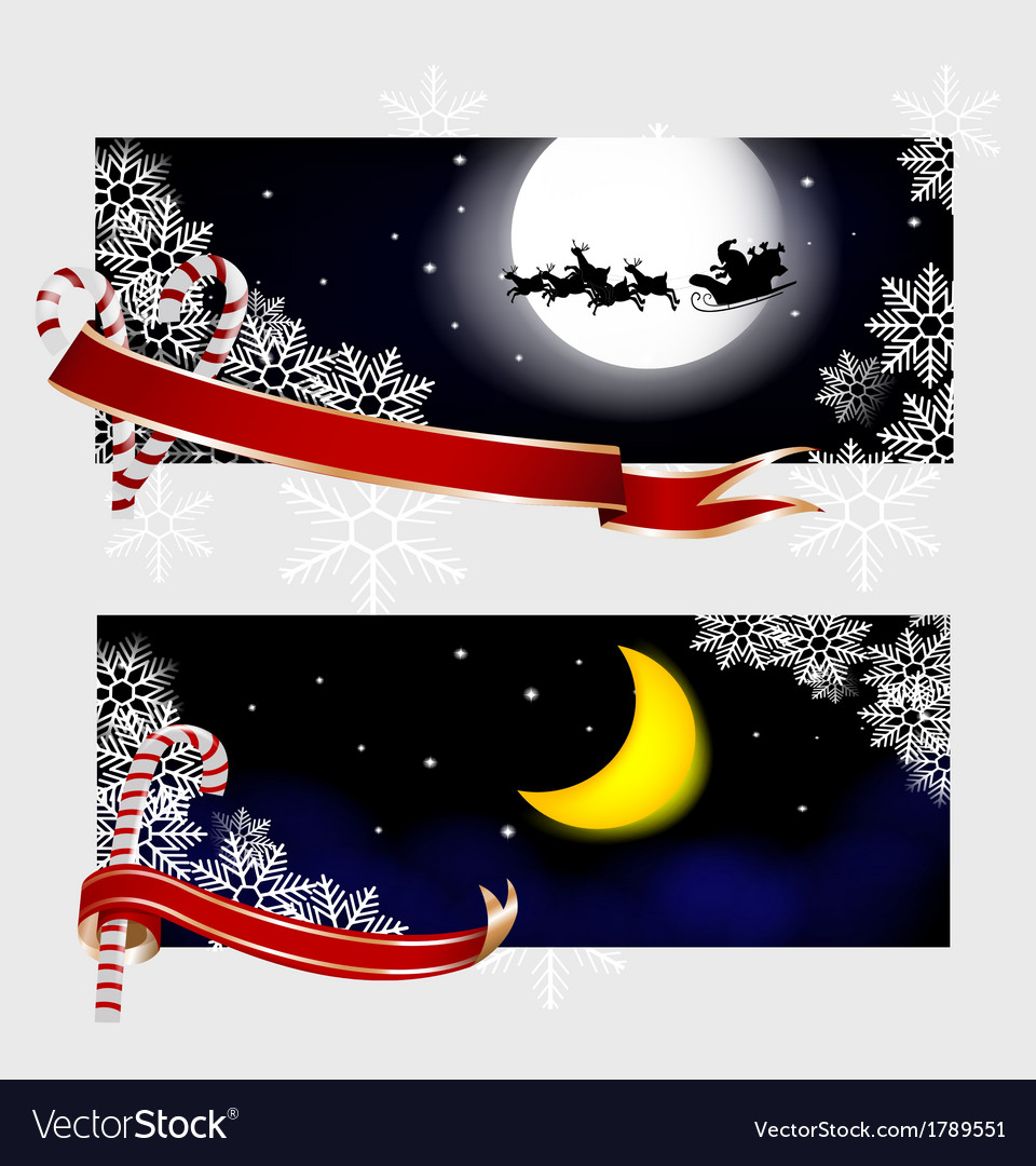 Xmas banners vector | Price: 1 Credit (USD $1)
