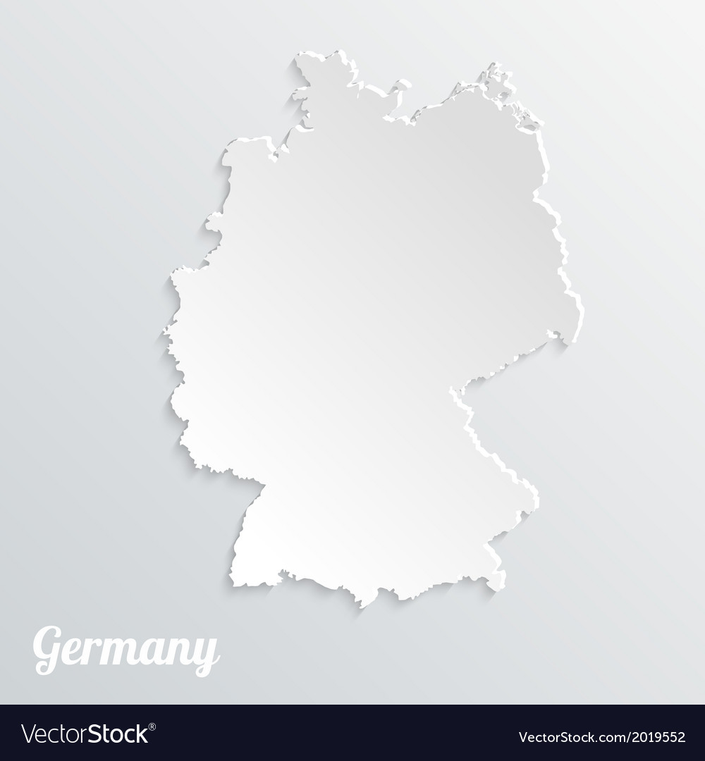 Abstract icon map of germany on a gray background vector | Price: 1 Credit (USD $1)