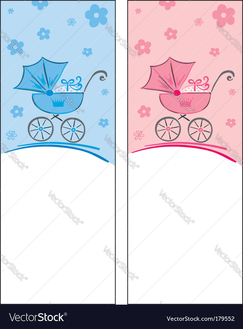 Cards for boy and a girl vector | Price: 1 Credit (USD $1)