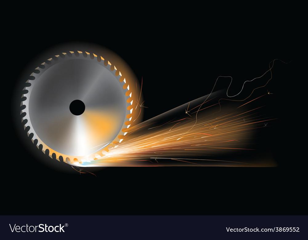 Circular saw sparks vector | Price: 1 Credit (USD $1)