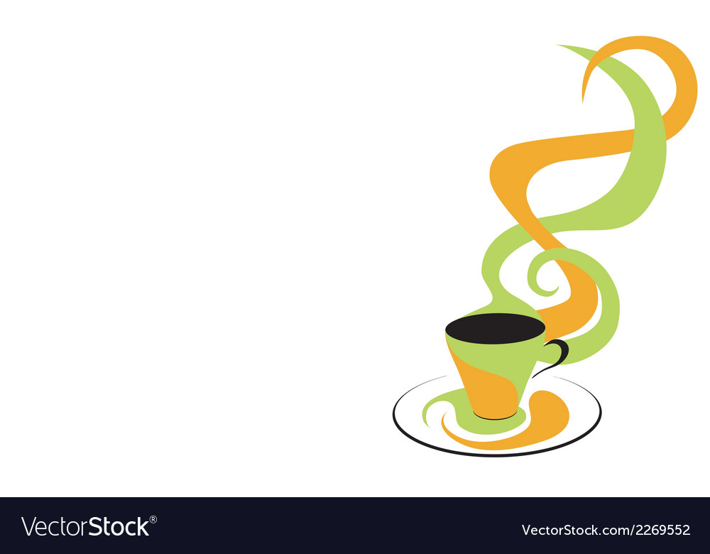 Coffee green and orange vector | Price: 1 Credit (USD $1)