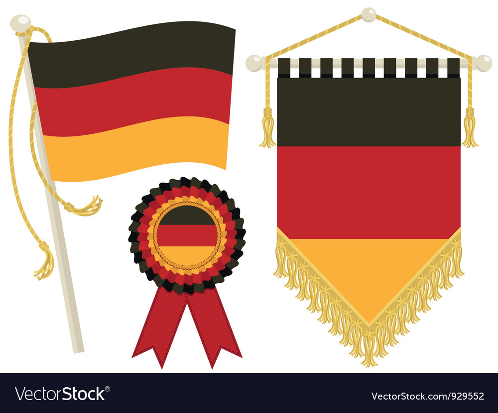 Germany flags vector | Price: 1 Credit (USD $1)