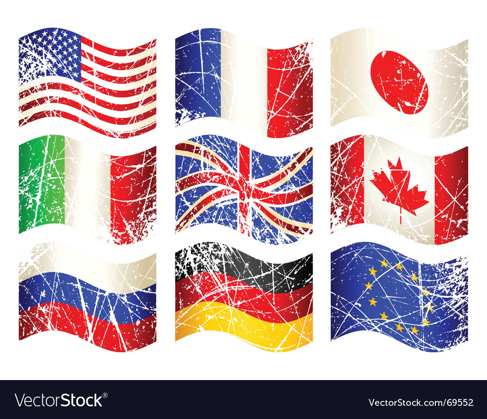 Grunge flags vector | Price: 1 Credit (USD $1)