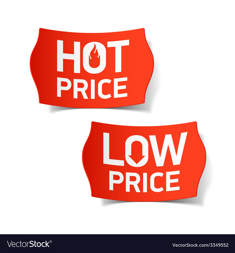 Hot and low price labels vector