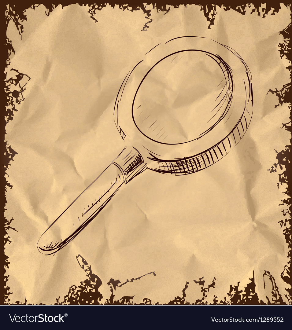 Magnify glass isolated on vintage background vector | Price: 1 Credit (USD $1)