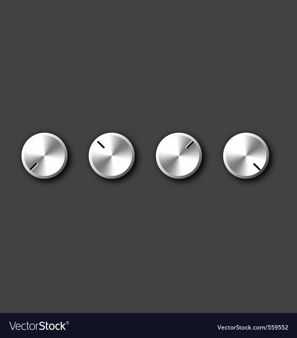 Metal knob vector | Price: 1 Credit (USD $1)