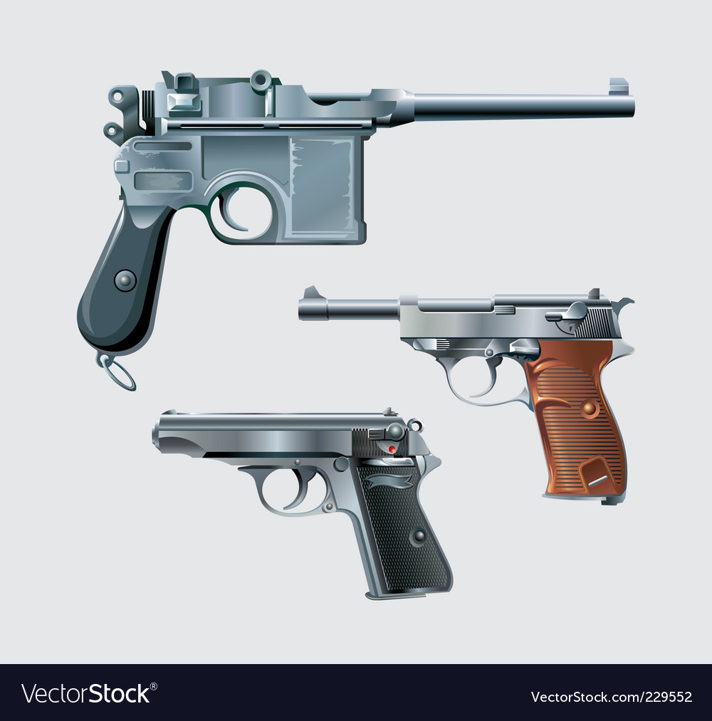 Pistols vector | Price: 3 Credit (USD $3)