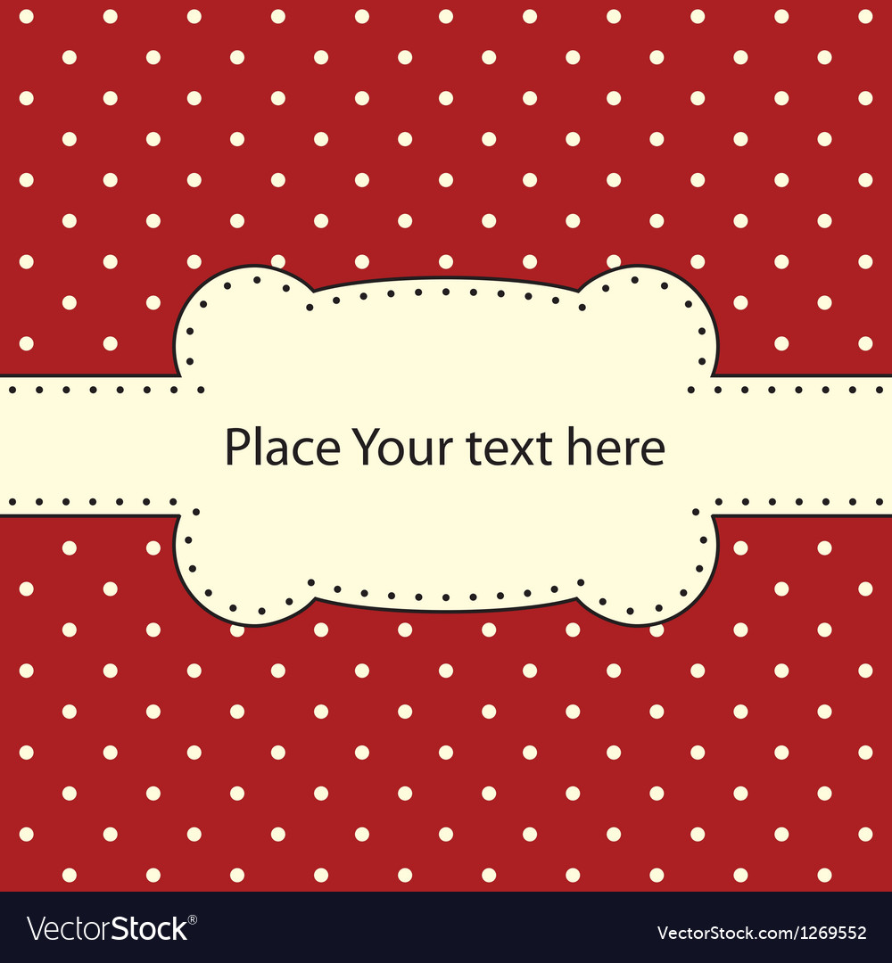 Polka dot design frame vector | Price: 1 Credit (USD $1)