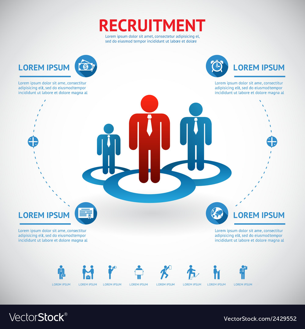 Recruitment and human resource vector | Price: 1 Credit (USD $1)