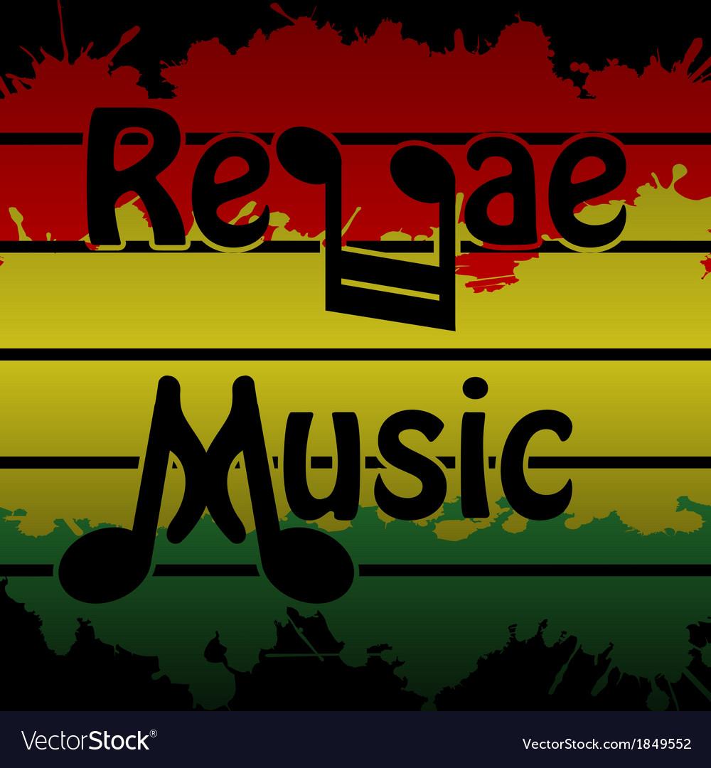 Reggae music vector | Price: 1 Credit (USD $1)