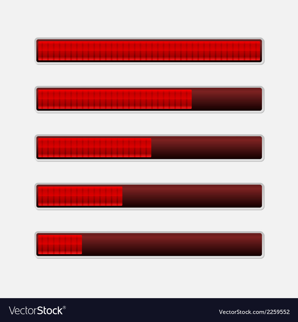 Set of progress bars loading bars vector | Price: 1 Credit (USD $1)