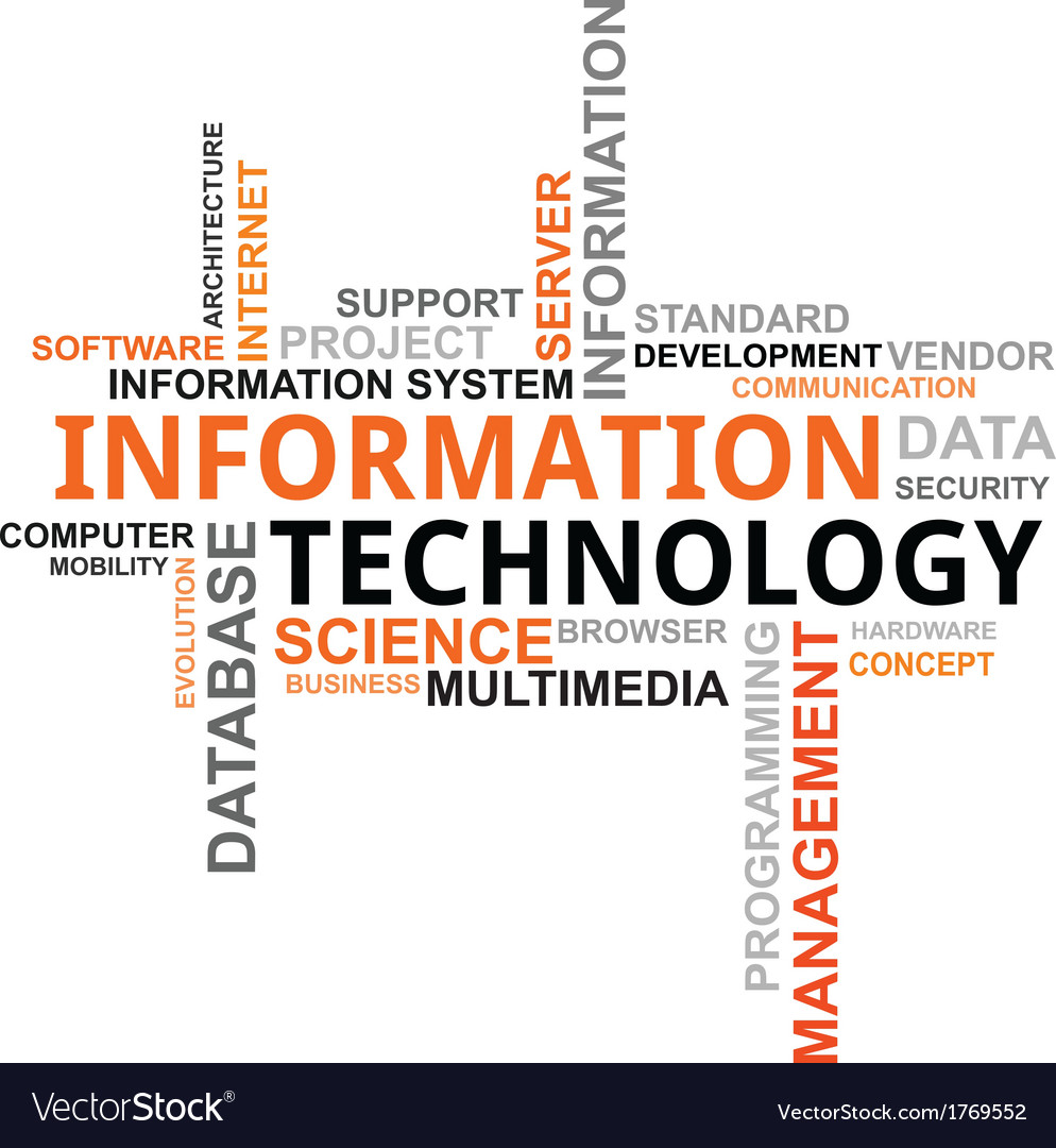Word cloud information technology vector | Price: 1 Credit (USD $1)