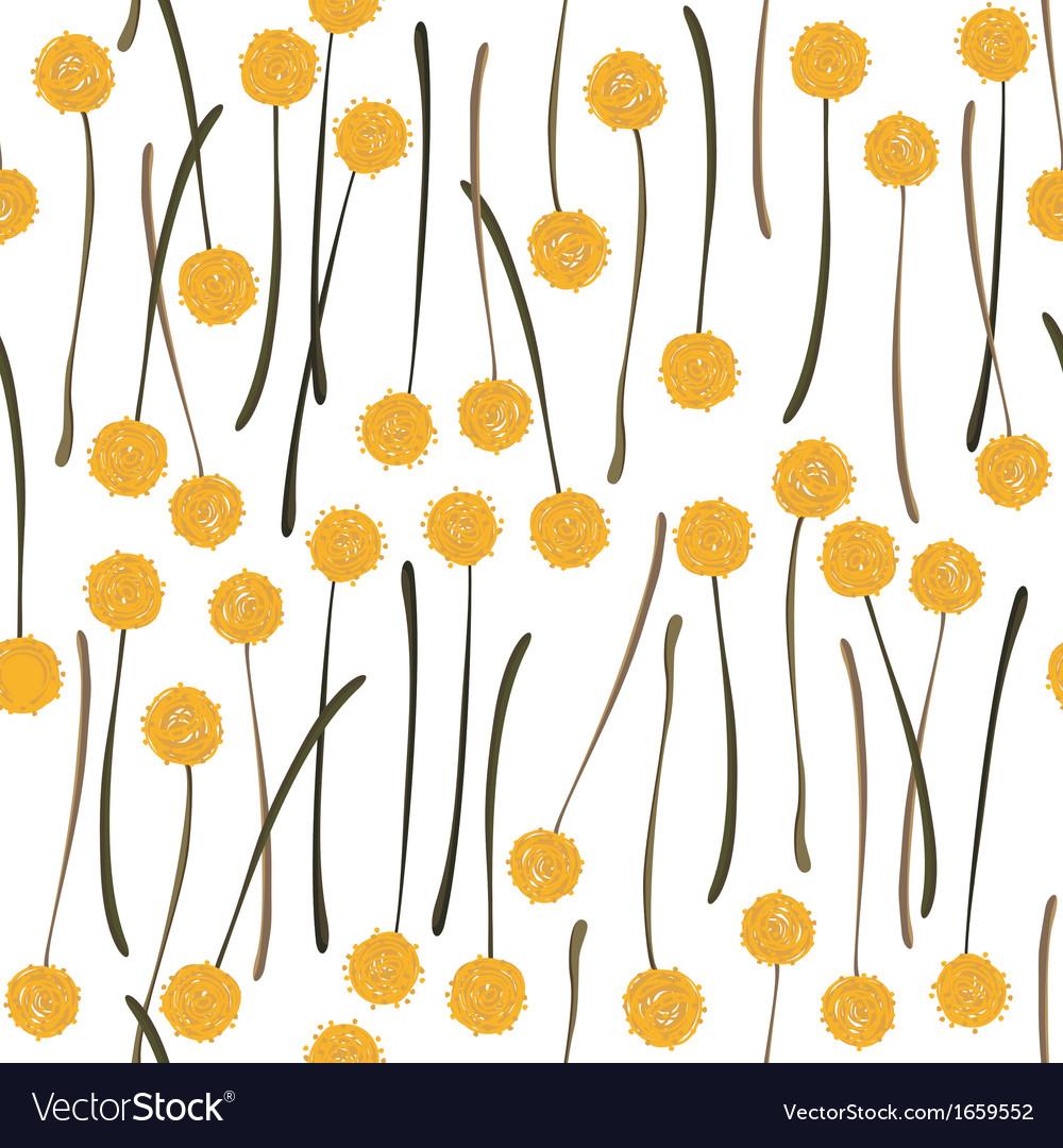 Yellow dandelions vector | Price: 1 Credit (USD $1)