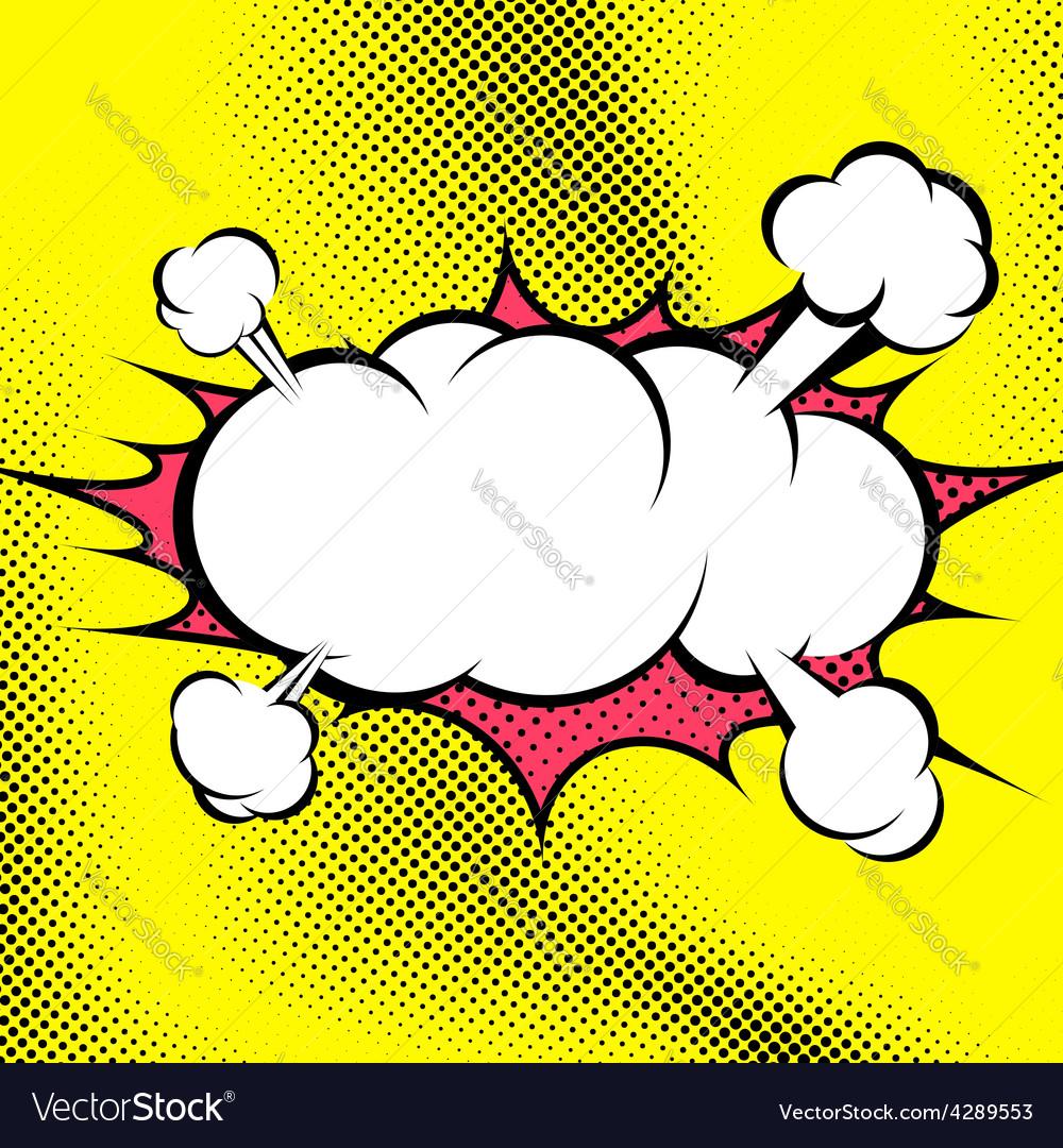 Big retro style comic book explosion cloud vector | Price: 1 Credit (USD $1)