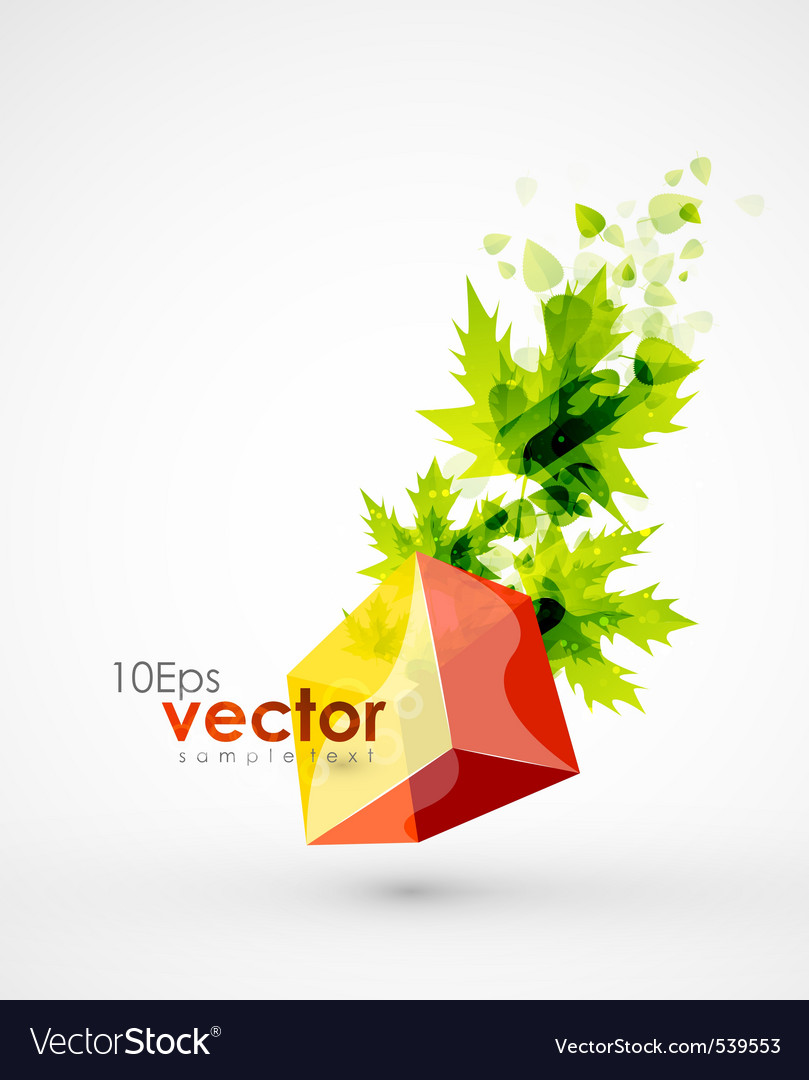 Creative leaves vector | Price: 1 Credit (USD $1)