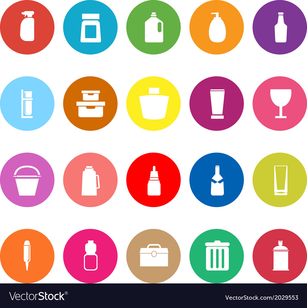 Design package flat icons on white background vector | Price: 1 Credit (USD $1)