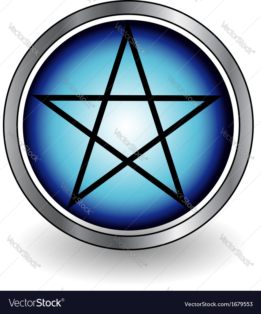 Glossy pentacle vector | Price: 1 Credit (USD $1)