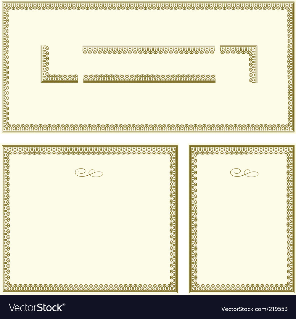 Gold frames vector | Price: 1 Credit (USD $1)