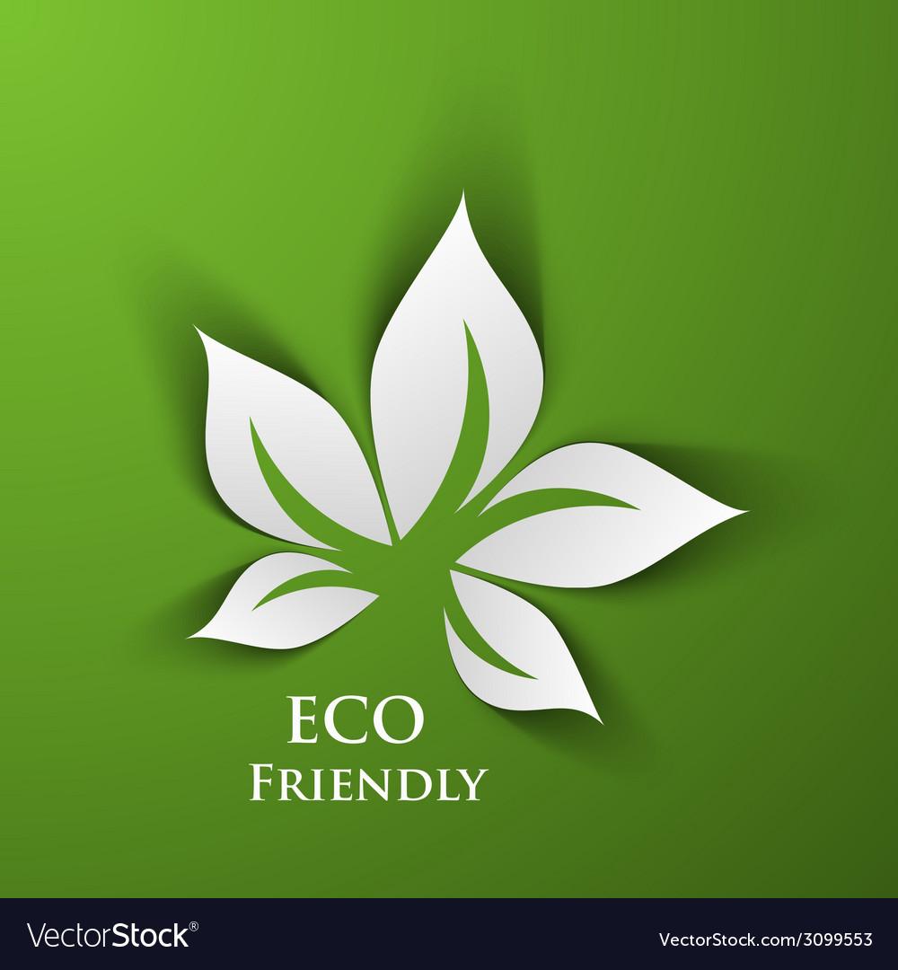 Green eco friendly vector | Price: 1 Credit (USD $1)