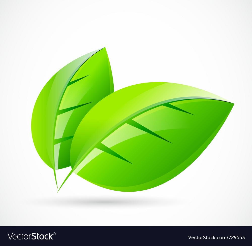 Green leaf logo vector | Price: 1 Credit (USD $1)