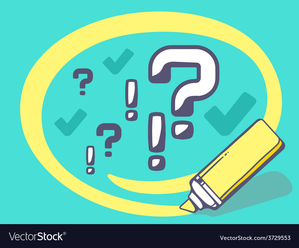 Marker drawing circle around question mar vector | Price: 1 Credit (USD $1)