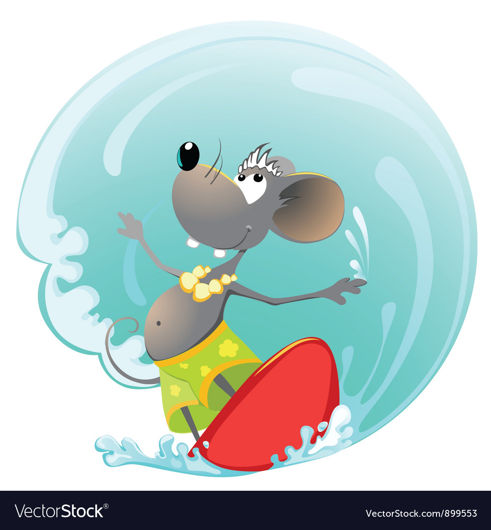Mouse summer sport vector | Price: 3 Credit (USD $3)
