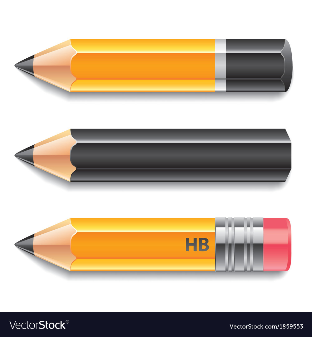 Object three pencils vector | Price: 1 Credit (USD $1)