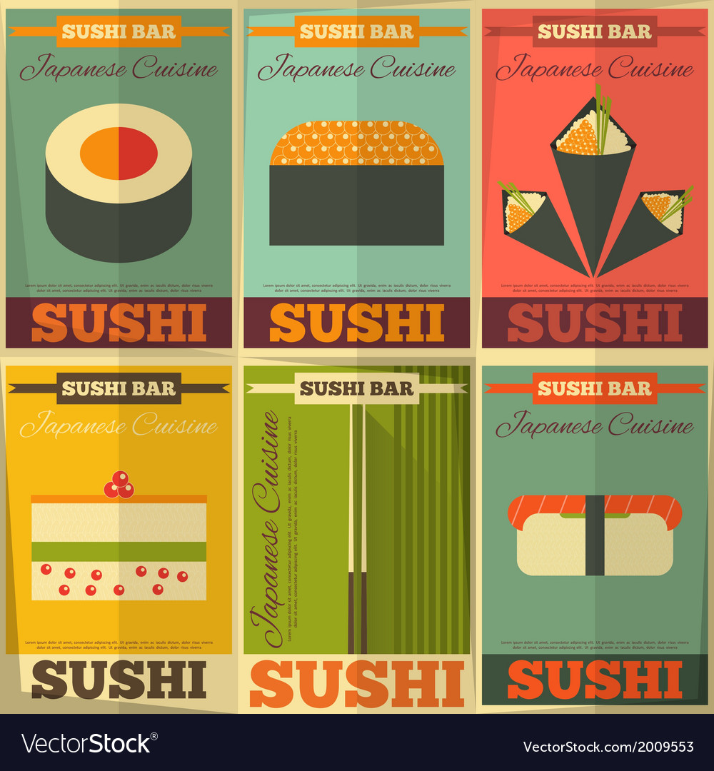 Sushi posters vector | Price: 1 Credit (USD $1)