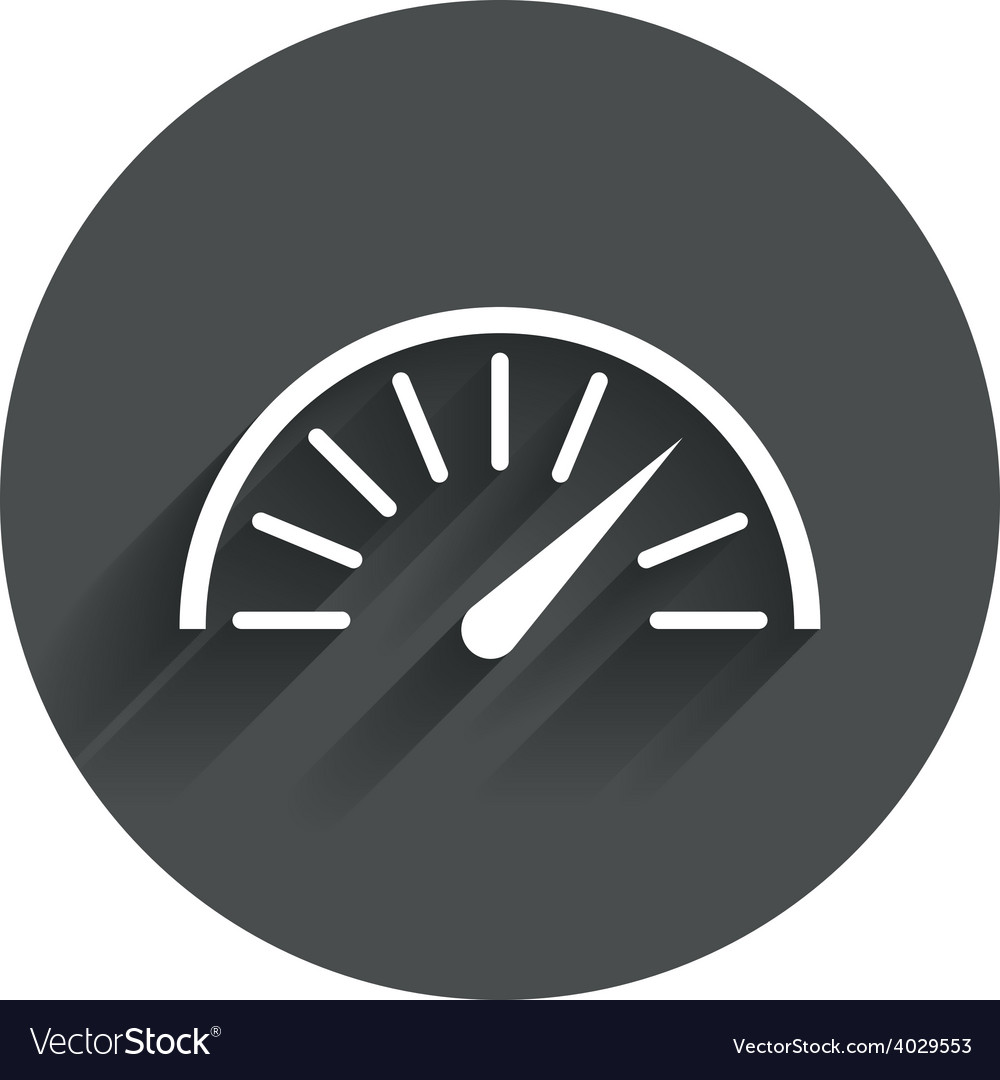 Tachometer sign icon revolution-counter symbol vector | Price: 1 Credit (USD $1)