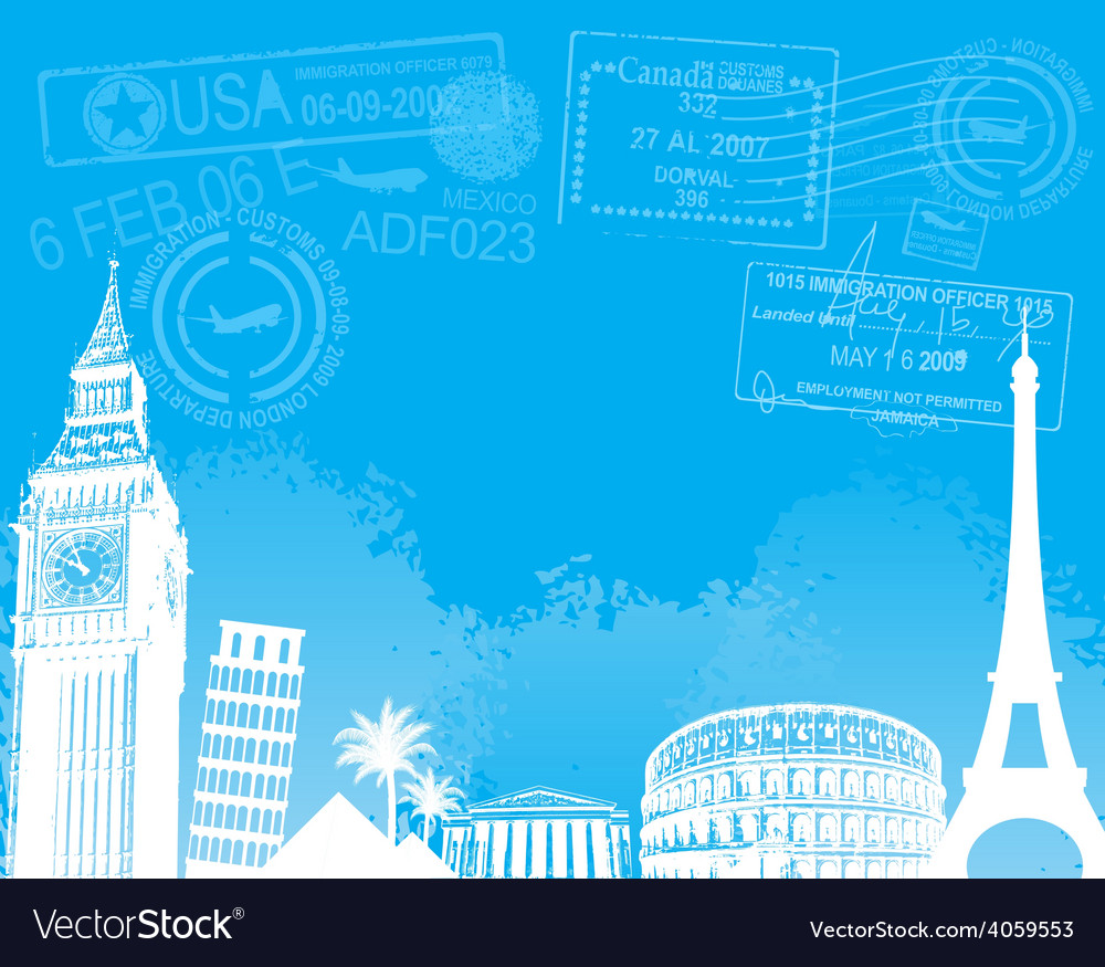 Travel europe background vector | Price: 3 Credit (USD $3)