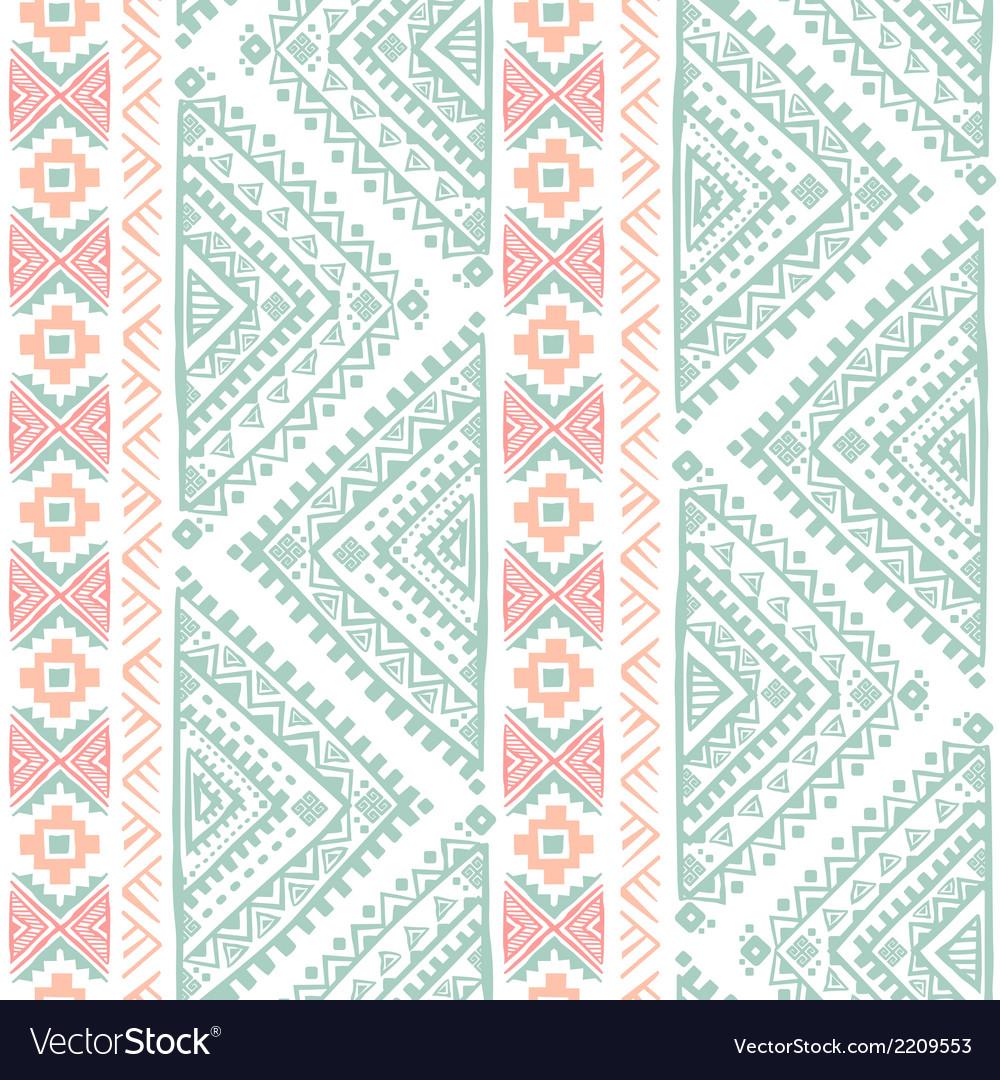 Tribal vintage ethnic seamless vector | Price: 1 Credit (USD $1)