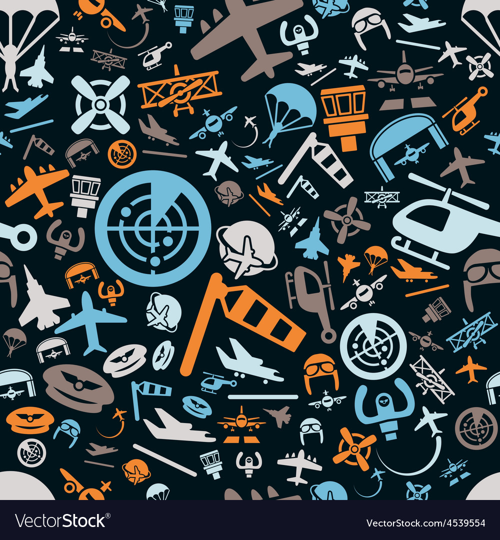 Aviation seamless pattern vector | Price: 1 Credit (USD $1)