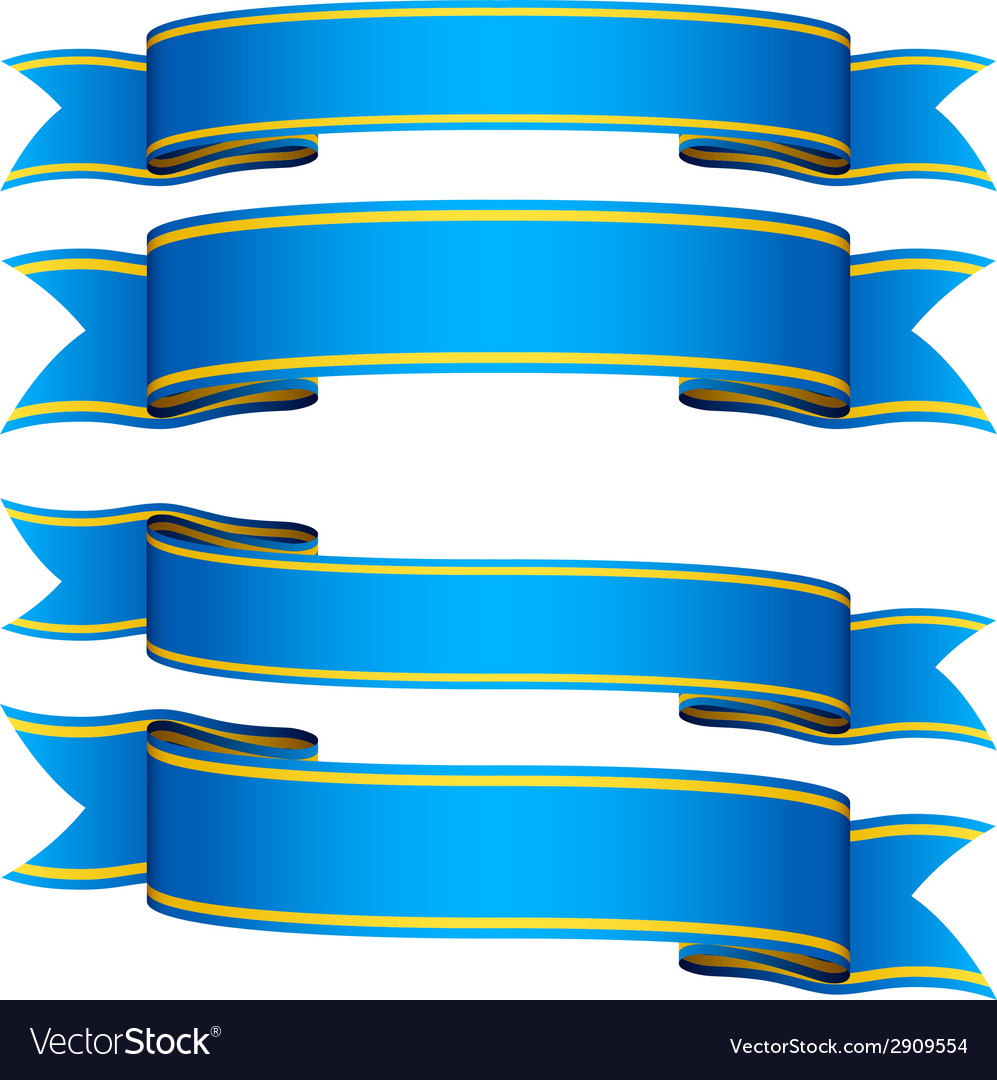 Blue ribbons vector | Price: 1 Credit (USD $1)