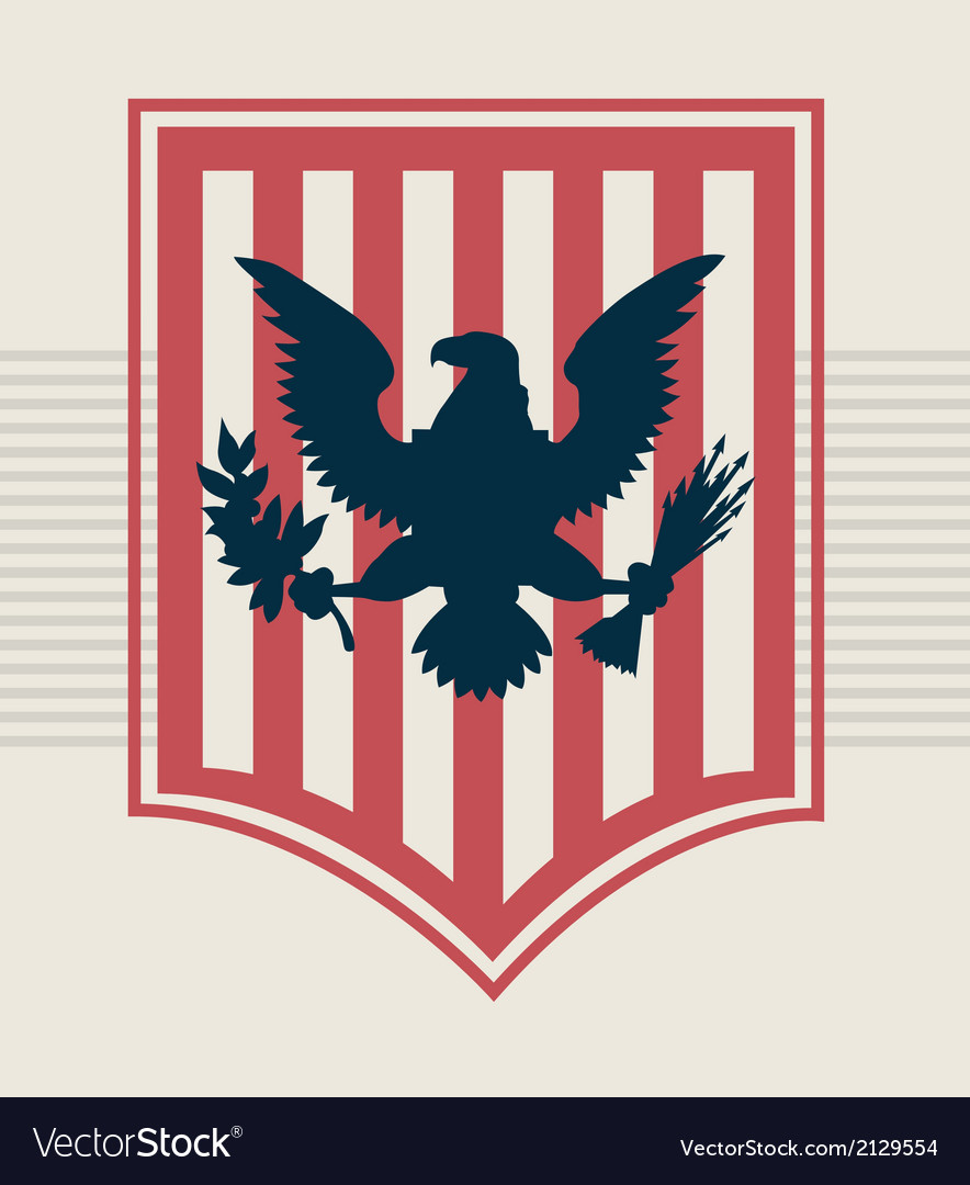 Eagle shield vector | Price: 1 Credit (USD $1)