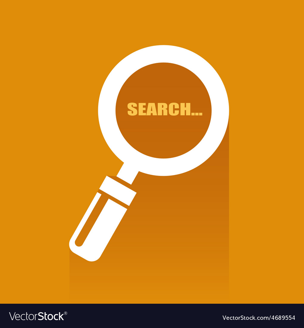 Flat with search icon vector | Price: 1 Credit (USD $1)